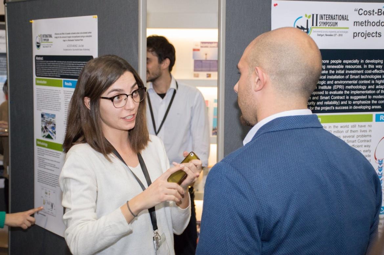 M.Sc. WASTE Student Razan Alsharqawi at II International Symposium (c) Jeramiah Backman Photography