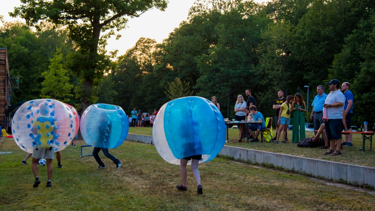 Bubble Soccer at M.Sc. WASTE Summer Party