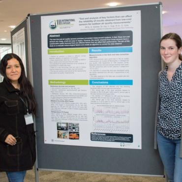 Grecia Solís and Katharina Wolf at International Symposium Grecia Solís and Katharina Wolf at International Symposium